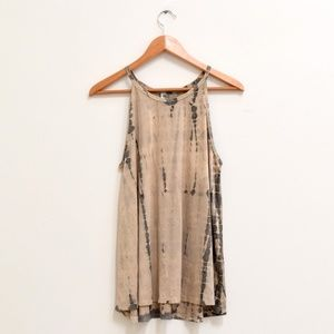 💜 3/$25 ppla Clothing Suede Tie Dye Tunic Top